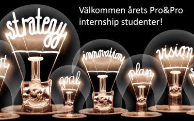 Årets internship studenter