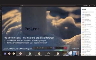 Pro&Pro Insight – Framtidens projektledarskap